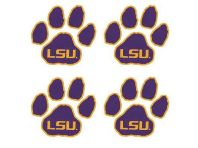 LSU Tigers Waterless Game Face Tattoo