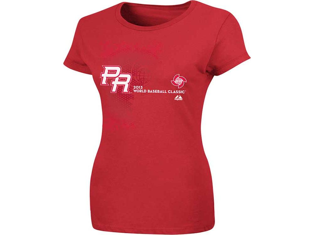 Puerto Rico Majestic MLB Womens World Baseball Classic Change Up T-Shirt  94c3d5d525