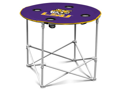 LSU Tigers Logo Brands Round Folding Table