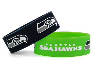 Seattle Seahawks 2-pack Wide Bracelet