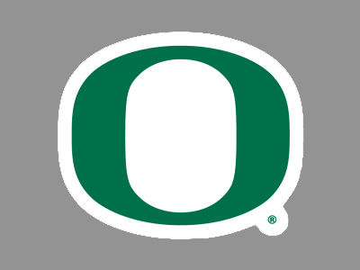 Oregon Ducks 4x4 Die Cut Decal Color