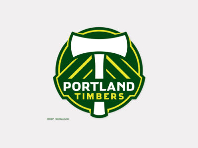 Portland Timbers 4x4 Die Cut Decal Color