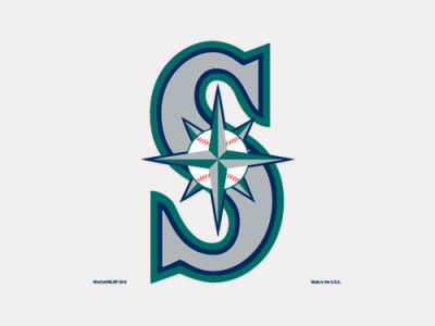Seattle Mariners 4x4 Die Cut Decal Color