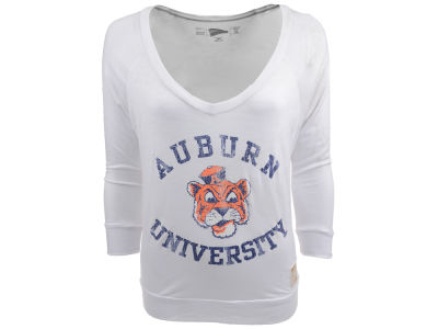 Auburn Tigers NCAA DR Ladies LW Long Sleeve V T-Shirt