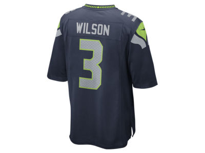 Seattle Seahawks Russell Wilson Nike NFL Men's Game Jersey