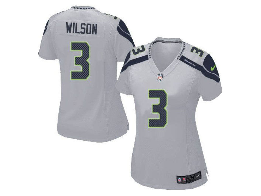 quality design 567b2 44e24 Seattle Seahawks Russell Wilson Nike NFL Women's Game Jersey