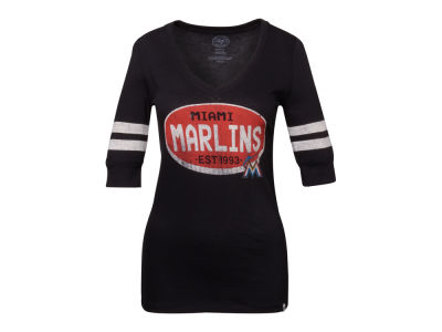Miami Marlins '47 MLB Women's Flanker Stripe T-Shirt
