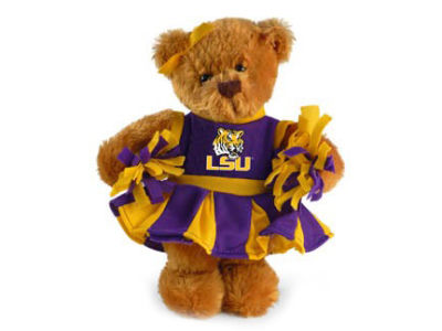 LSU Tigers Cheerlearder Bear