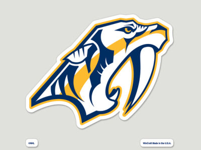 Nashville Predators Die Cut Color Decal 8in X 8in