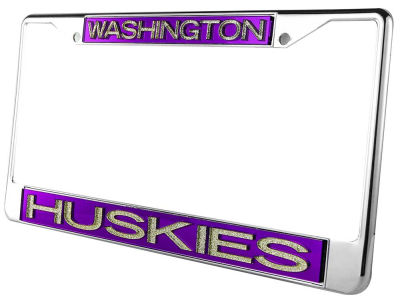 Washington Huskies Glitter Laser Frame