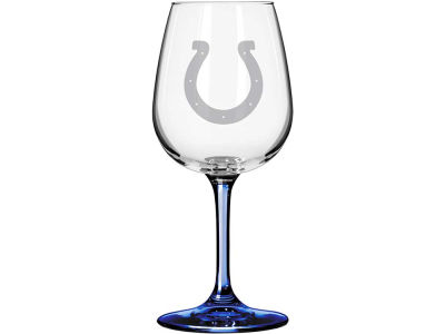 Indianapolis Colts Satin Etch Wine Glass