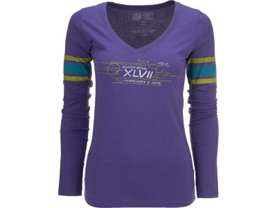 Super Bowl XLVII '47 NFL Womens Super Bowl XLVII Homerun Long Sleeve T-Shirt