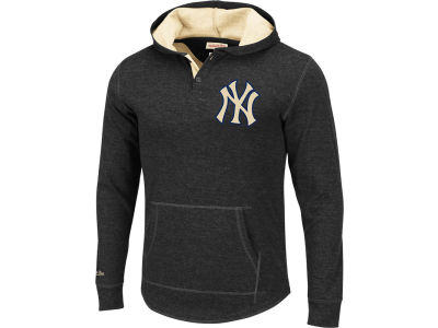 New York Yankees Mitchell and Ness MLB Men's Hooded Longsleeve T-Shirt