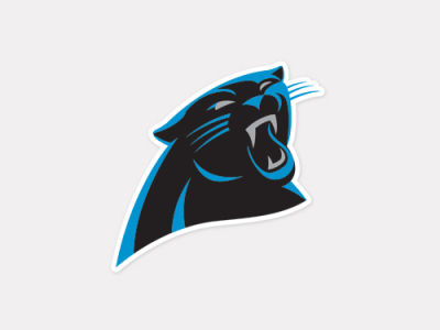 Carolina Panthers 4x4 Die Cut Decal Color