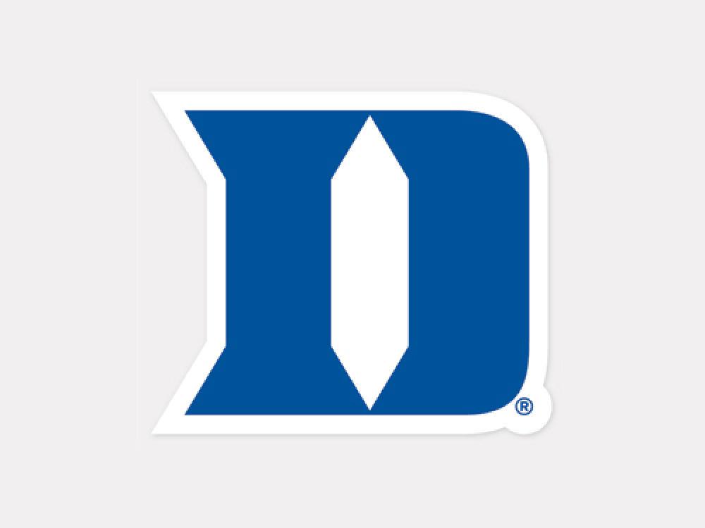 Duke Blue Devils 4x4 Die Cut Decal Color Lids