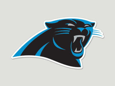 Carolina Panthers Die Cut Color Decal 8in X 8in