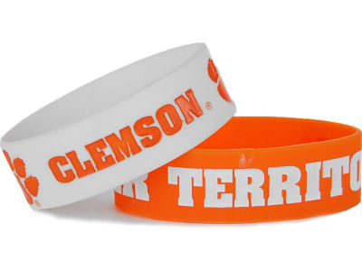 Clemson Tigers 2-pack Wide Bracelet