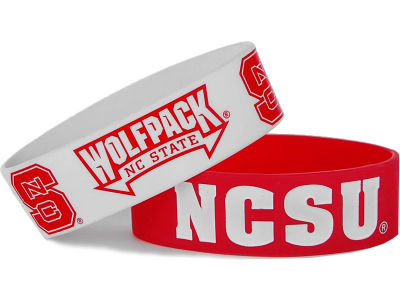 North Carolina State Wolfpack 2-pack Wide Bracelet