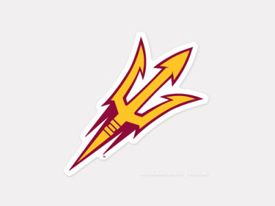 Arizona State Sun Devils 4x4 Die Cut Decal Color