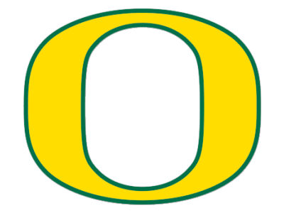 Oregon Ducks Die Cut Color Decal 8in X 8in