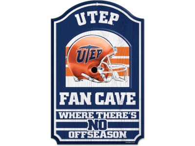 UTEP Miners 11x17 Wood Sign