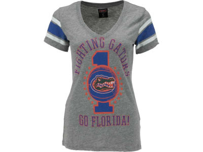 Florida Gators NCAA Womens Basketball Vneck Stripe T-Shirt