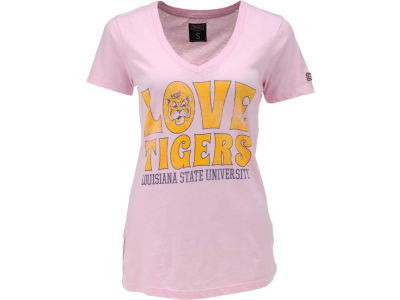 LSU Tigers NCAA Womens Love Vneck T-Shirt