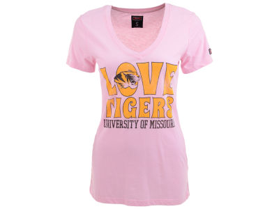 Missouri Tigers NCAA Womens Love Vneck T-Shirt