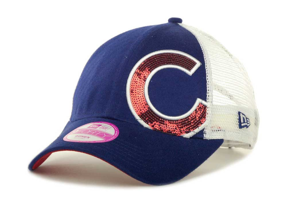 Chicago Cubs New Era MLB Womens Sequin Shimmer 9FORTY Cap  81c18feed60