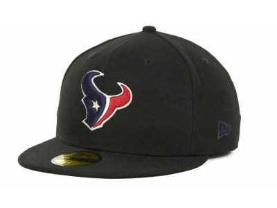 Houston Texans New Era NFL Black Team 59FIFTY Cap