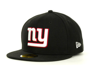 New York Giants New Era NFL Black Team 59FIFTY Cap