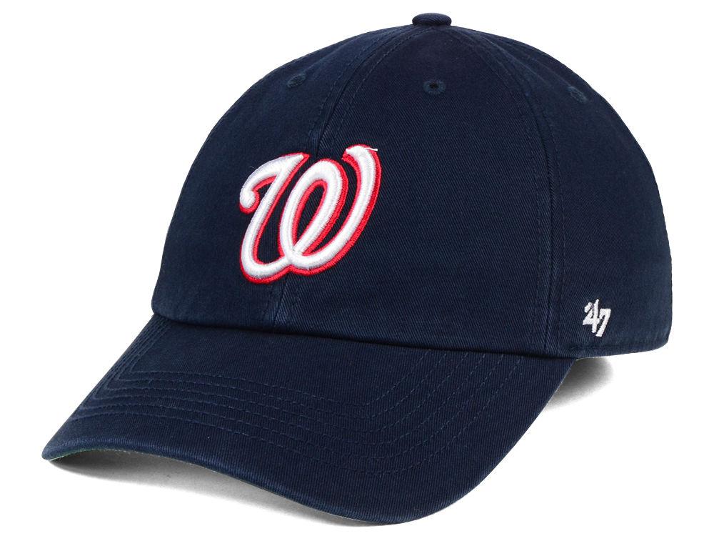 half off 59132 93828 Washington Nationals  47 MLB  47 FRANCHISE Cap   lids.com