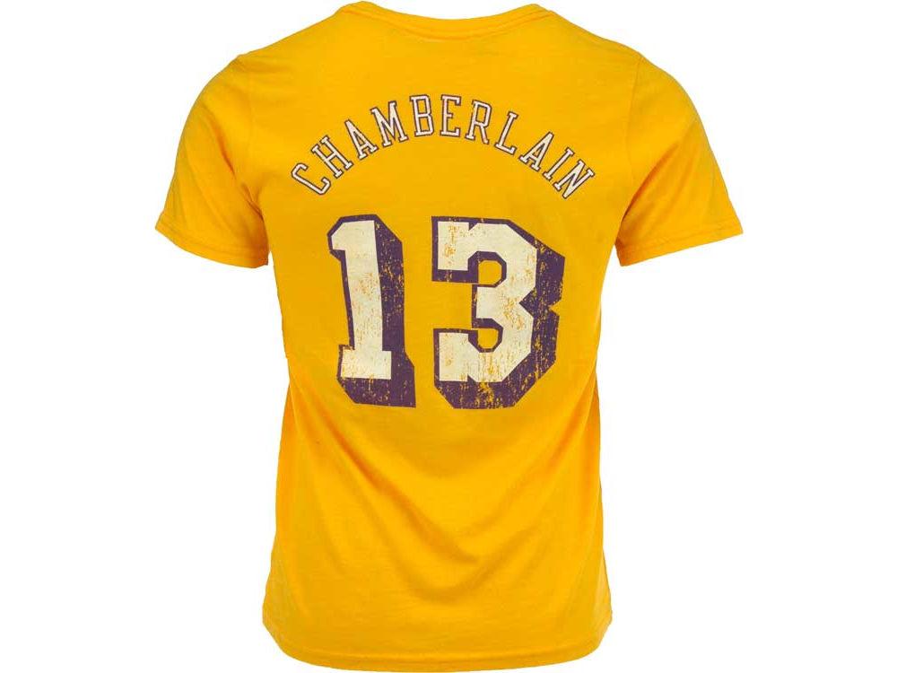 b34dd293c Los Angeles Lakers Wilt Chamberlain NBA HWC Triblend Player T-Shirt ...