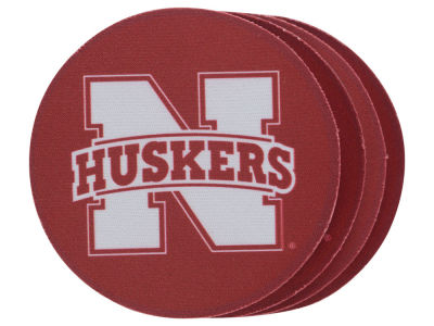 Nebraska Cornhuskers 4-pack Neoprene Coaster Set