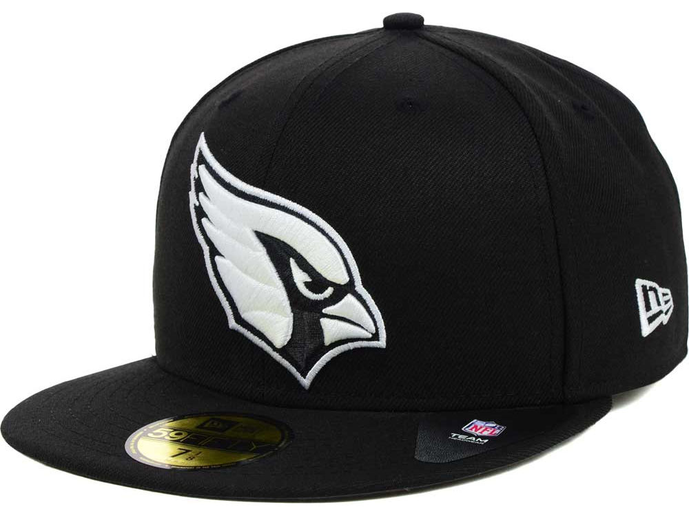 buy online a087d e4ba0 ... cheapest arizona cardinals new era nfl black and white 59fifty cap  6838a b0382