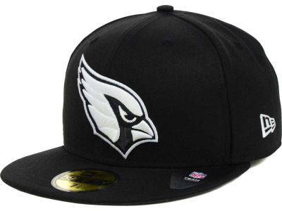 Arizona Cardinals New Era NFL Black And White 59FIFTY Cap