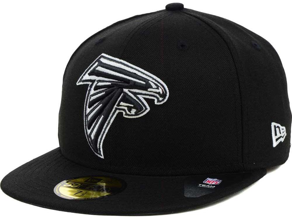 Relatively Atlanta Falcons New Era NFL Black And White 59FIFTY Cap   lids.com MA82