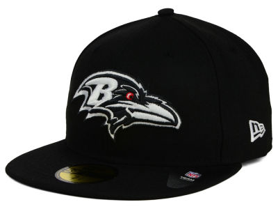 Baltimore Ravens New Era NFL Black And White 59FIFTY Cap