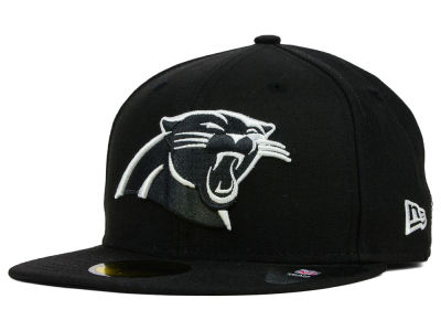 Carolina Panthers New Era NFL Black And White 59FIFTY Cap