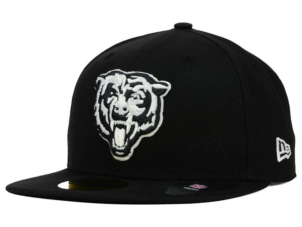 959a69806c2dd ... australia chicago bears new era nfl black and white 59fifty cap lids  6b8fc 1ad3c