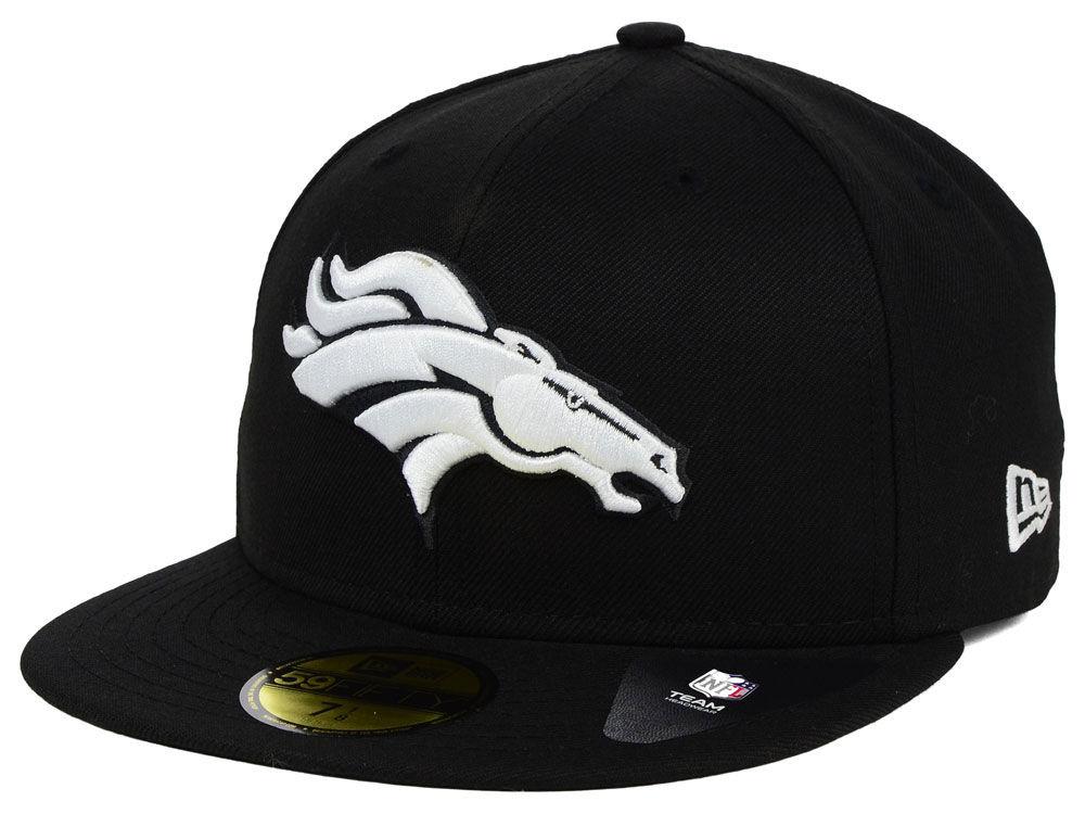 Denver Broncos New Era NFL Black And White 59FIFTY Cap 73d763e1f59