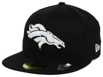 Denver Broncos New Era NFL Black And White 59FIFTY Cap