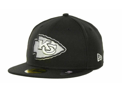 Kansas City Chiefs New Era NFL Black And White 59FIFTY Cap