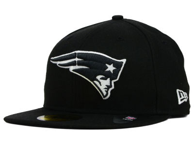 New England Patriots New Era NFL Black And White 59FIFTY Cap