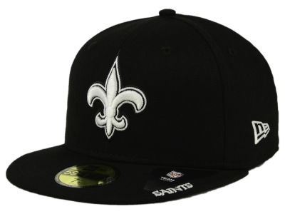 New Orleans Saints New Era NFL Black And White 59FIFTY Cap