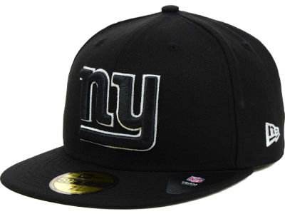 New York Giants New Era NFL Black And White 59FIFTY Cap