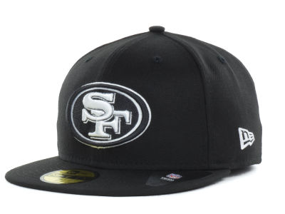 San Francisco 49ers New Era NFL Black And White 59FIFTY Cap a5f6e31b116