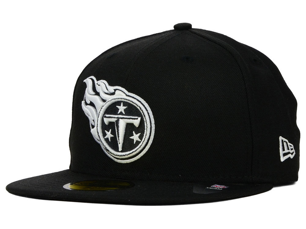 Tennessee Titans New Era NFL Black And White 59FIFTY Cap  de182fee65c