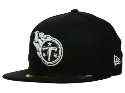 Tennessee Titans New Era NFL Black And White 59FIFTY Cap