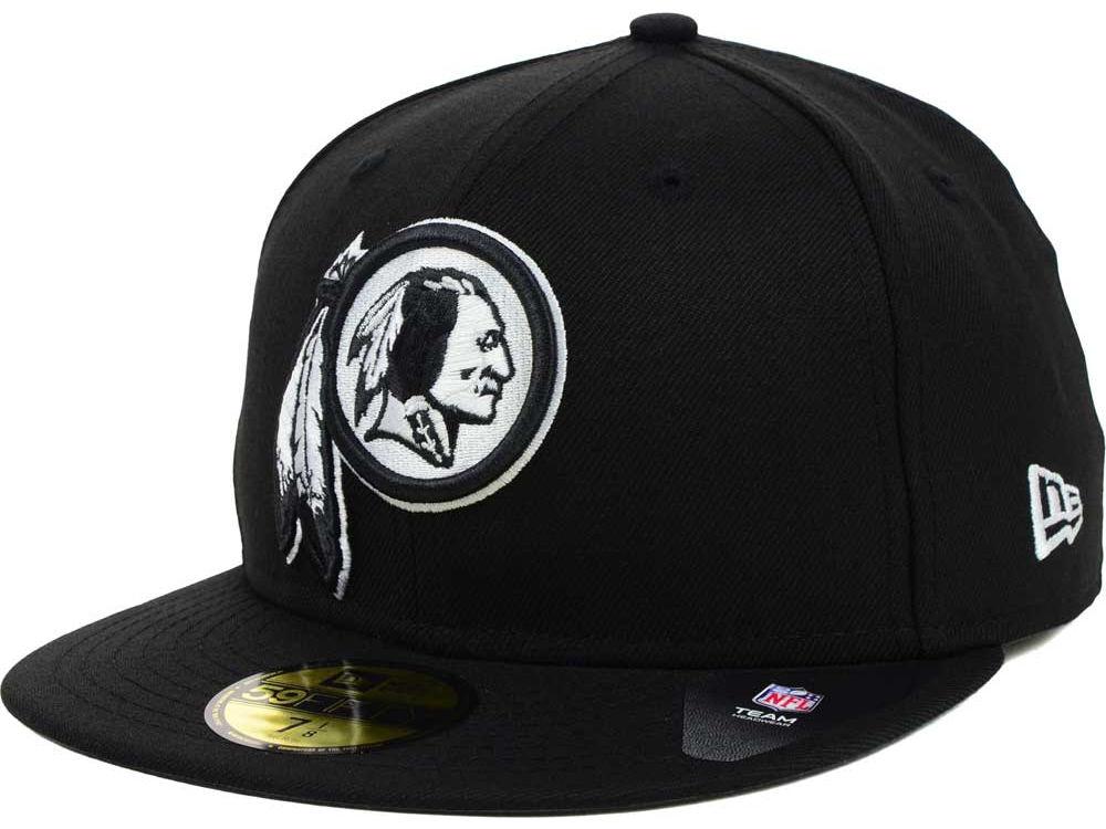 248817e7d Washington Redskins New Era NFL Black And White 59FIFTY Cap